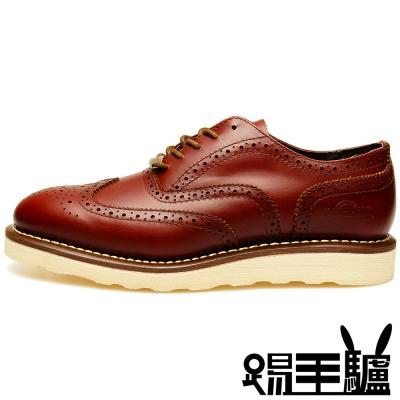 NORTHWEST英倫牛津真皮布洛克商務休閒鞋TM-7404 (紅棕)