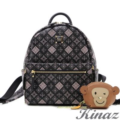 KINAZ猴子~淘氣可愛2way後背包-粉紅宣言