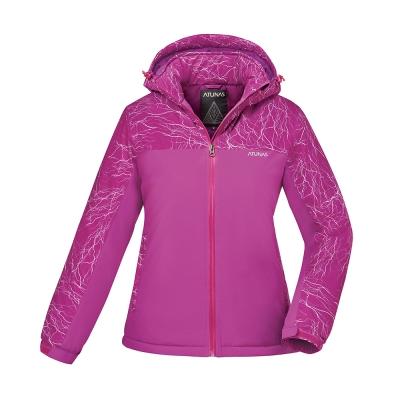 【ATUNAS 歐都納】女款防水透氣/輕量蓄熱保暖防風外套A-G1745W紫紅