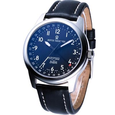 Revue Thommen AIRSPEED XLARGE 機械腕錶-黑/40mm