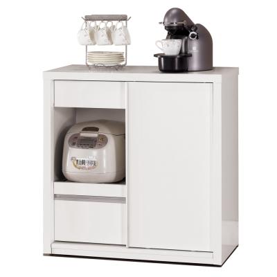 愛比家具 貴婦系列~2.6尺拉門收納櫃
