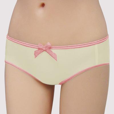 瑪登瑪朵-Juicy-V-低腰平口萊克褲-鵝黃