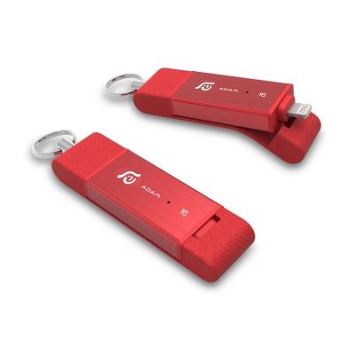 亞果元素 iKlips DUO Apple雙向極速多媒體行動碟 16GB 紅色