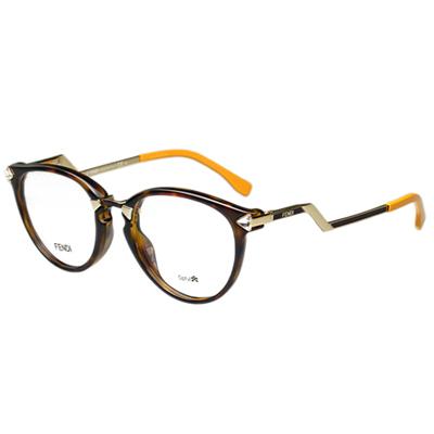 FENDI 造型光學眼鏡 (琥珀色)FF0039