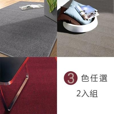 范登伯格 - 浮華 經典素面地毯 (三色任選兩入) (105x156cm)