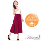 BeautyFocus  UPF50+時尚A字抗UV防曬裙-紅色