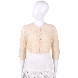 MARELLA 粉膚色蕾絲短版小外套
