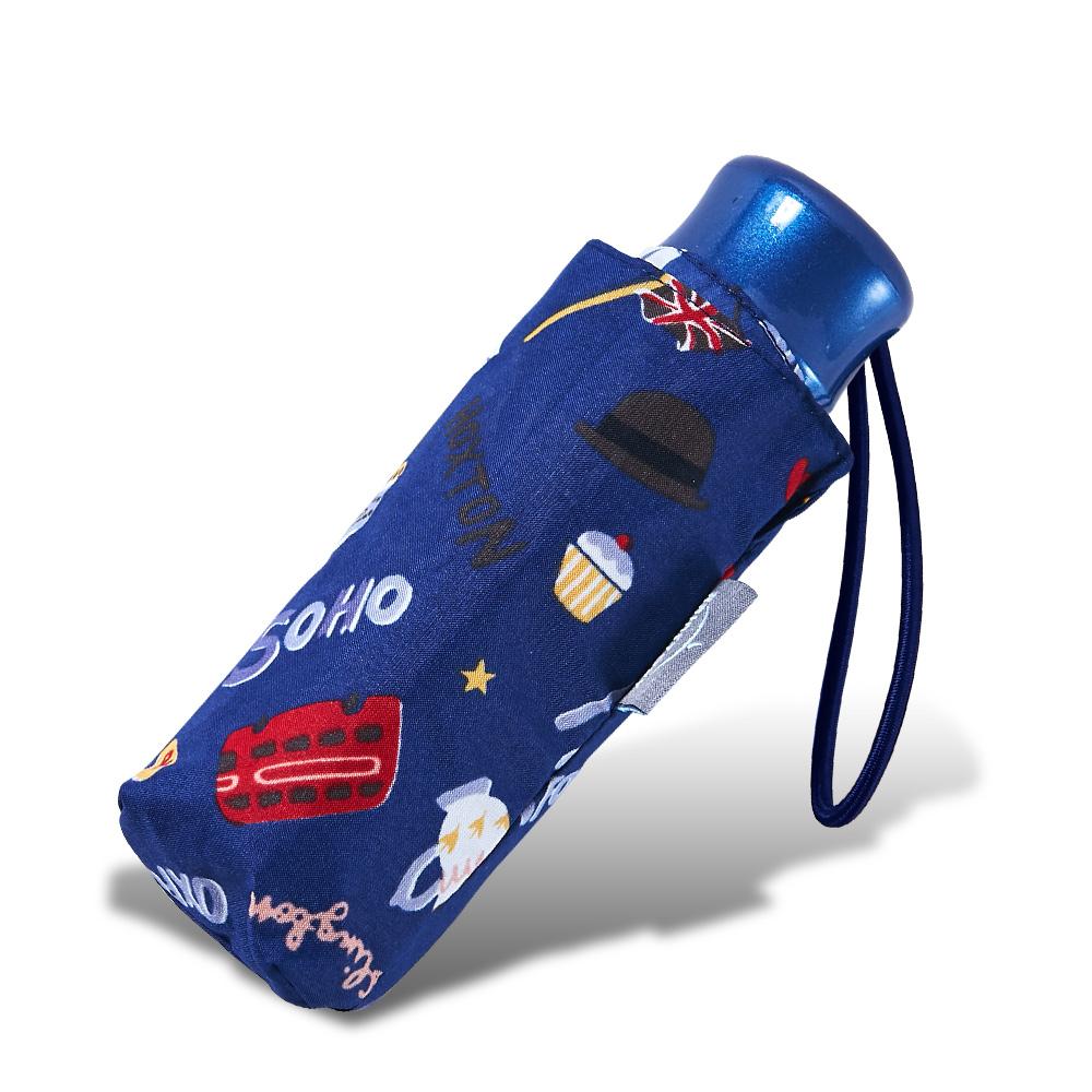 RAINSTORY倫敦風情(藍)抗UV迷你口袋傘