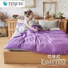 梵蒂尼Famttini-經典紫情 撞色單人被套床包組-採用天絲萊賽爾纖維
