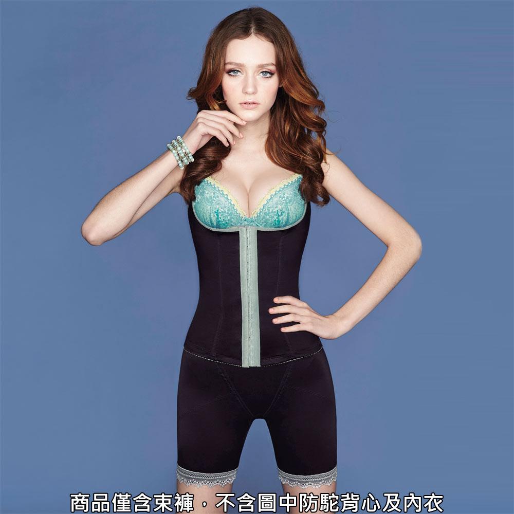 瑪登瑪朵-俏魔力  重機能中腰中管束褲(黑)