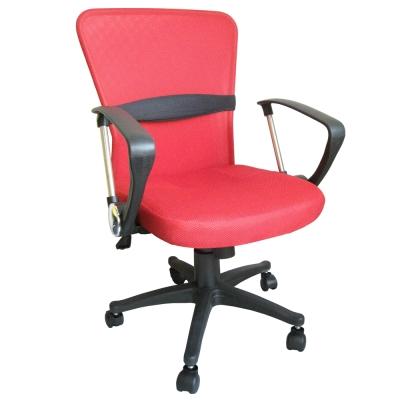 Dr.DIY D型扶手(透氣網布)雙彩主管椅/辦公椅/電腦椅(紅色)