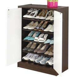 簡約雙色五層鞋櫃