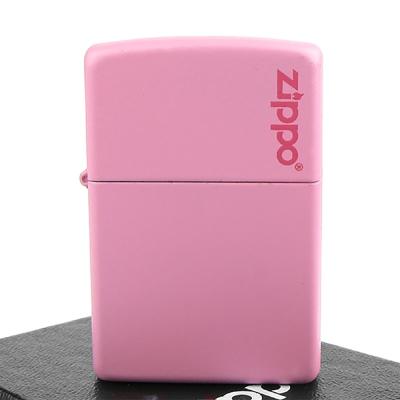 【ZIPPO】美系~LOGO字樣打火機~Pink Matte粉紅烤漆