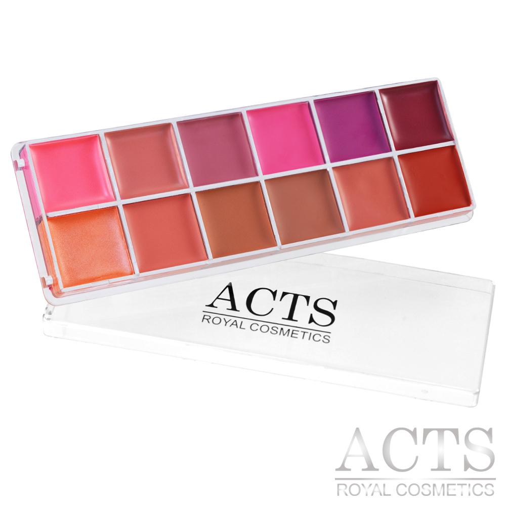 ACTS 維詩彩妝 12色專業唇彩盤