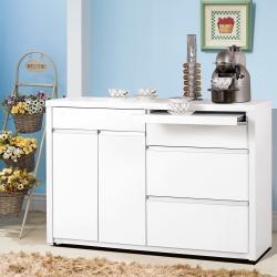 凱曼 巴洛斯4尺白色餐櫃收納櫃