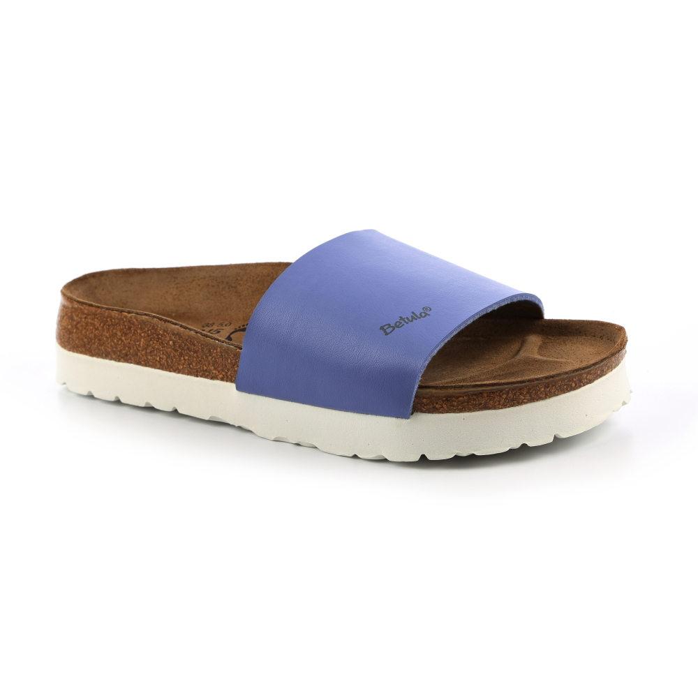 勃肯Betula 721343。REGGAE雷鬼 寬版拖鞋(藍)