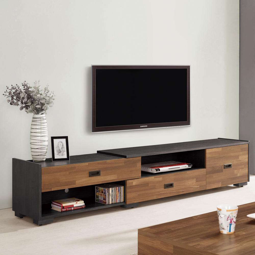Bernice-布羅5尺伸縮電視櫃/長櫃(兩色可選)-150~220x40x44cm