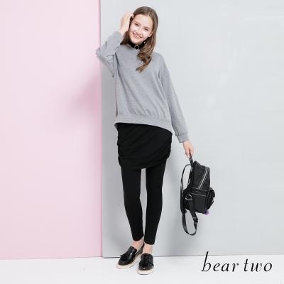 beartwo 抽皺彈性兩件式內搭褲裙(二色)-動態show