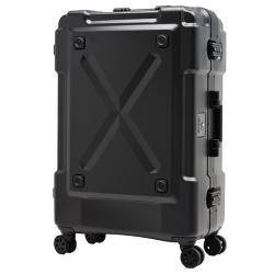 日本 LEGEND WALKER 6302-62-26吋 鋁框密碼鎖輕量行李箱 消光黑