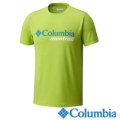 Columbia哥倫比亞 男款-野跑防曬30短袖上衣-蘋果青 UXE00080AP