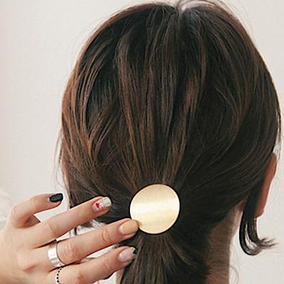 HERA 赫拉 簡約金屬圓片馬尾髮扣束髮頭繩/髮繩/髮圈