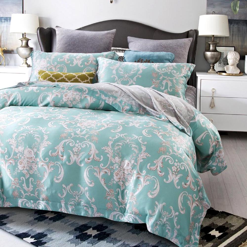 Saint Rose 溫特 雙人100%純天絲兩用被套床包四件組