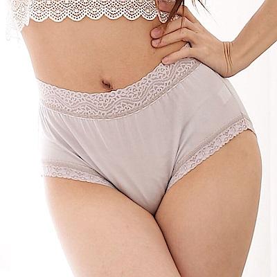 內褲 簡約舒適100%蠶絲中高腰三角內褲 (灰) Chlansilk 闕蘭絹