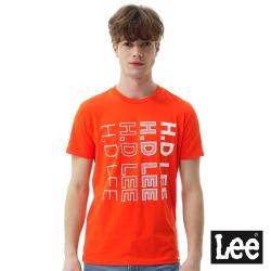 Lee HD LEE漸層短袖圓領TEE/SMU-男款-橘色