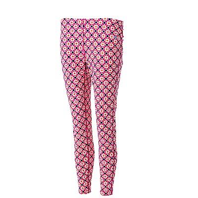 【Wildland 荒野】女彈性時尚印花內搭褲花紅
