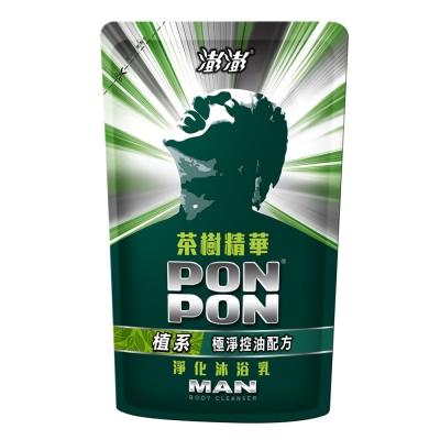 澎澎茶樹精油淨化沐浴乳補充包700g
