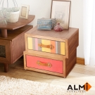 ALMI_ASYMMETRIC 2 DRAWERS 雙抽收納櫃W53*D40*H40CM
