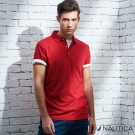 Nautica 簡約素面短袖POLO衫-紅