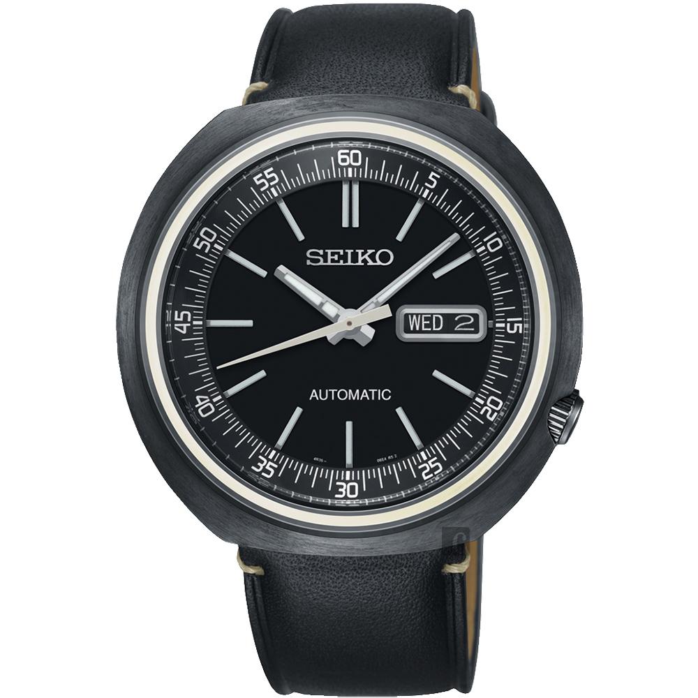 SEIKO精工 1969 復刻限量機械錶(SRPC15J1)-黑/43mm