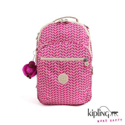 Kipling-後背包-紫紅箭羽印
