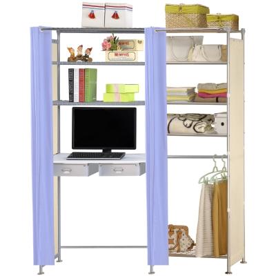 巴塞隆納-W5型60公分+E90公分電腦桌衣櫥架