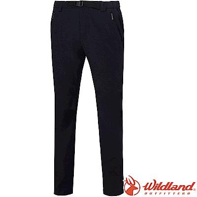 Wildland 荒野 0A61396-54黑色 男四彈耐磨三季褲*大尺碼*