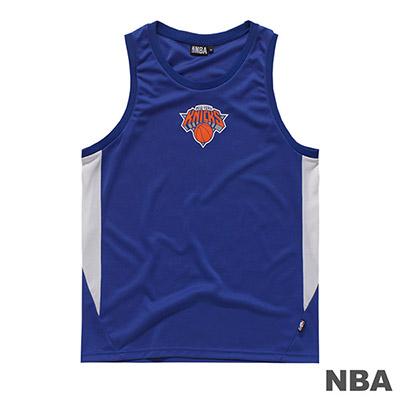 NBA-紐約尼克隊LOGO印花背心-藍 (男)