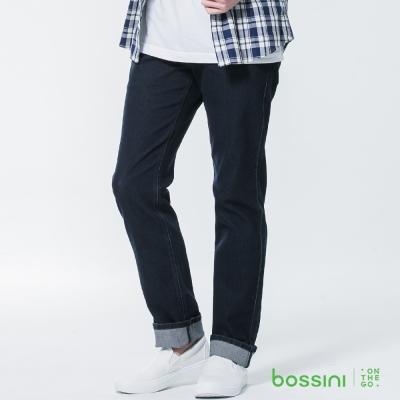 bossini男裝-修身牛仔長褲01霧靛藍