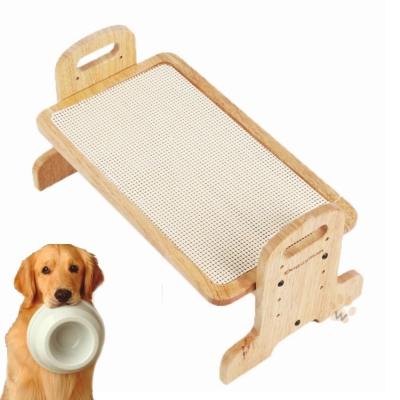 日本DoggyMan 高級木製立式餐飲桌 M號