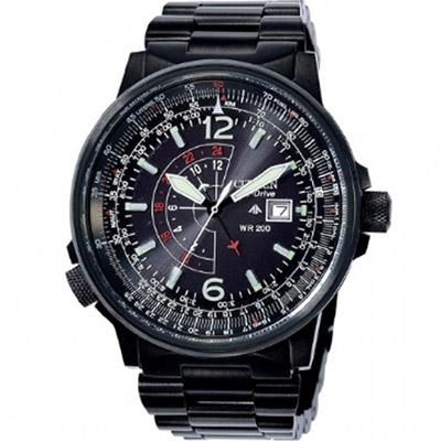 CITIZEN Promaste系列 GMT時尚腕錶(BJ7019-62E)-黑/40mm