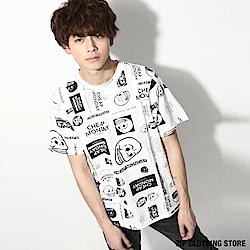 滿版印花寬版T恤(1色) ZIP日本男裝