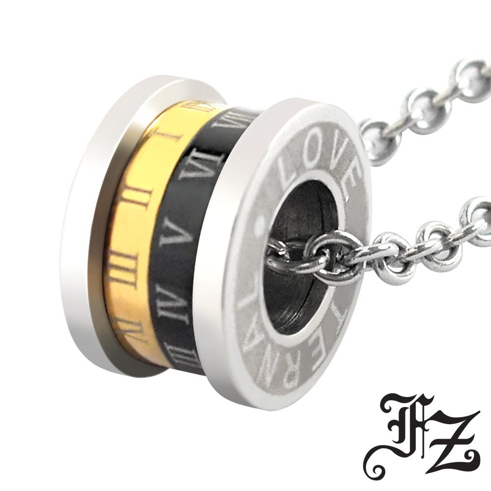 【FZ】運轉永恆白鋼項鍊