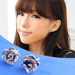 維克維娜 春溢蔓延。古銀立體切割花瓣造型 925純銀耳環
