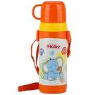 Nuby 不鏽鋼背帶保溫水壺(杯蓋)-拉拉象 360ml(4Y+)