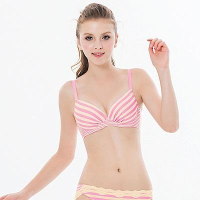 瑪登瑪朵-15春夏S-Select條紋內衣  B-E罩杯(條紋黃)