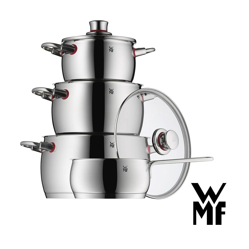 德國WMF Quality One四件組單手鍋16cm低身湯鍋16 20 24cm 8H