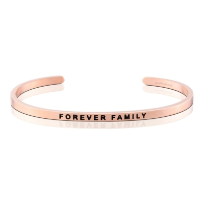 MANTRABAND 美國悄悄話手環 FOREVER FAMILY 永遠的家人 玫瑰金
