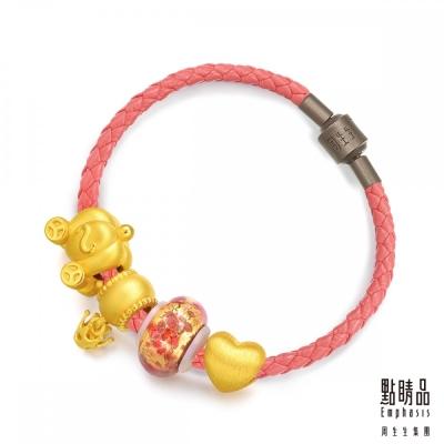 點睛品 Charme Murano Glass「夜間女王」黃金彩色琉璃串珠手鍊