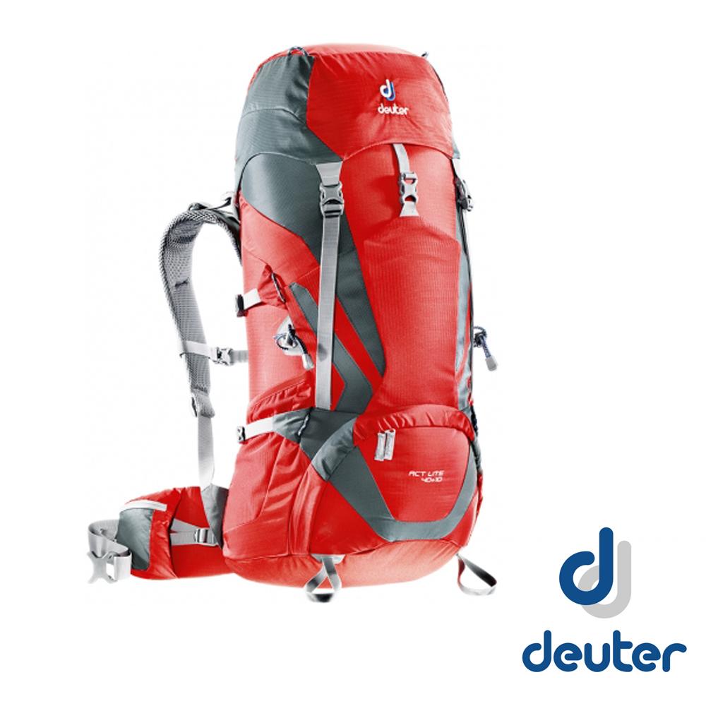 【德國 Deuter】 Act lite 40+10L 輕量拔熱式透氣背包_紅/灰