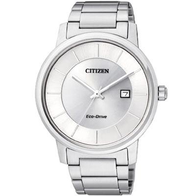 CITIZEN 經典簡約光動能腕錶(BM6750-59A)-銀白/40mm